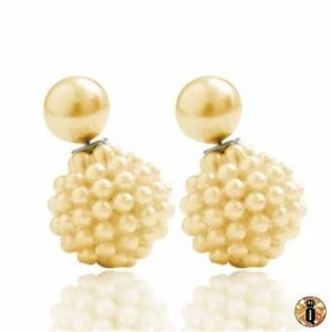 ⚜️[𝟯/$𝟭𝟯]⚜️Simple Yellow 2 Pearl Earrings New